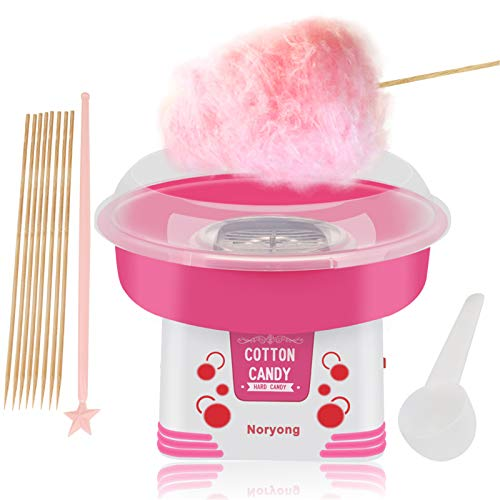 Portable Cotton Candy Machine for Kids, with Round Heating Tube and One-button Start, Efficient Heating, Hard & Sugar Free Cotton Candy Maker for Counter Top, for Kid Birthday Parties
