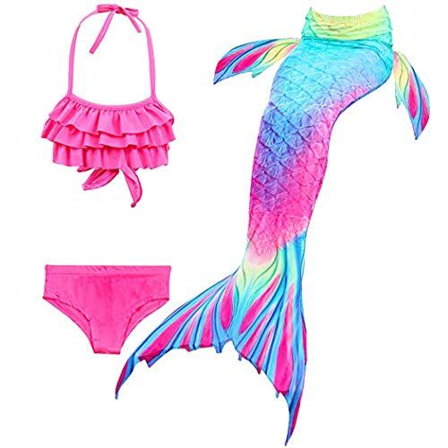 Hejin Cola de Sirena con Bikini para Niños