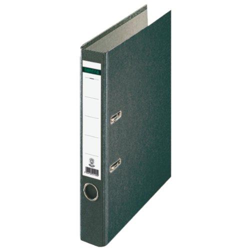 Centra 221105 Standard-Ordner (grauappe RC, mit Wolkenmarmor-Papier-Kaschierung, A4, 5,2 cm Rückenbreite) schwarz