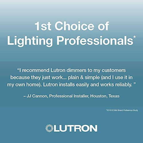 Lutron Maestro C.L Dimmer Switch for Dimmable LED, Halogen & Incandescent Bulbs, Single-Pole or Multi-Location, MACL-153M-WH, White