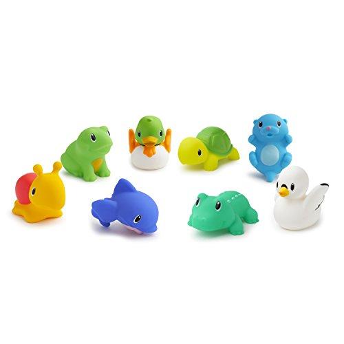 8 pack Munchkin 8 Squirtin Farm Buddies Baby Bath Toys
