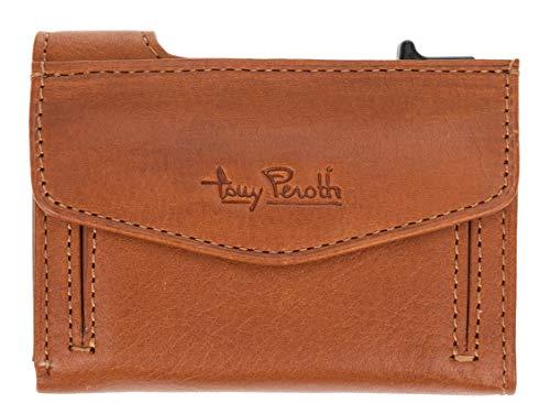 Leder Geldbörse Toni Perotti RFID Kreditkartenbörse Wallet Geldbeutel + Etui (Hellbraun (TE/CC/3700MI))