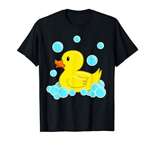 Lindo Pato Amarillo Duckie Juguetes De Baño De Goma Patito Camiseta