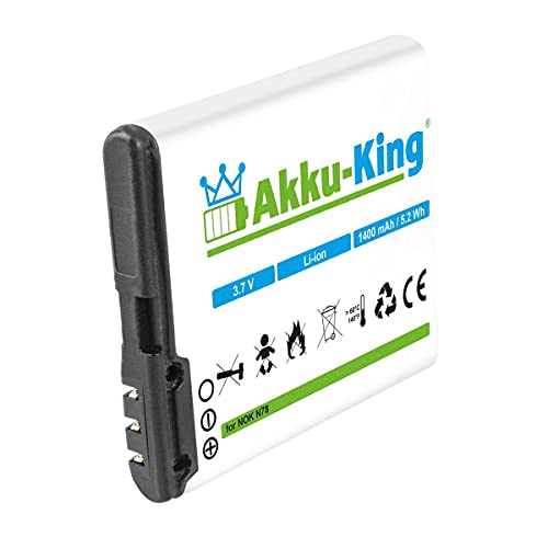 Akku-King Akku kompatibel mit Nokia BL-6F Li-Ion 1400mAh - für N78, N79, N95 8GB, Tiptel Ergophone 6040