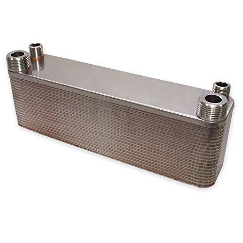 Hrale Edelstahl Wärmetauscher 40 Platten max 165 kW Plattenwärmetauscher Wärmetauscher