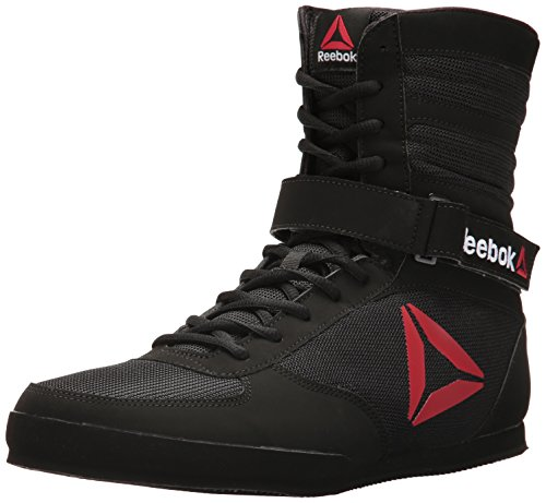 Reebok Men's Boot Boxing Shoe, Buck-Delta-Black/Black/White, 10 M US