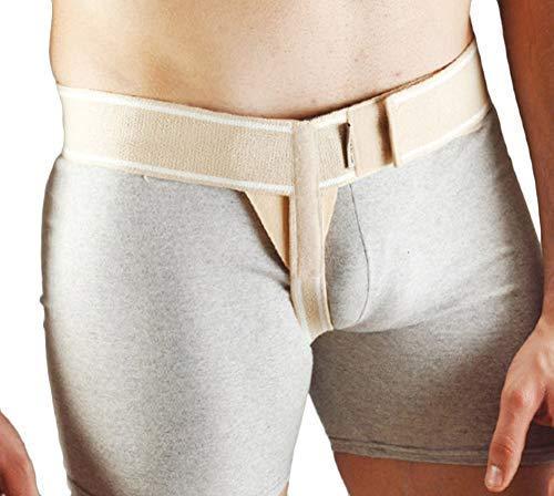 Aurafix - einseitiger Leistenbruchgürtel, Schrittgurt aus elastischer Baumwolle - links und rechts verfügbar