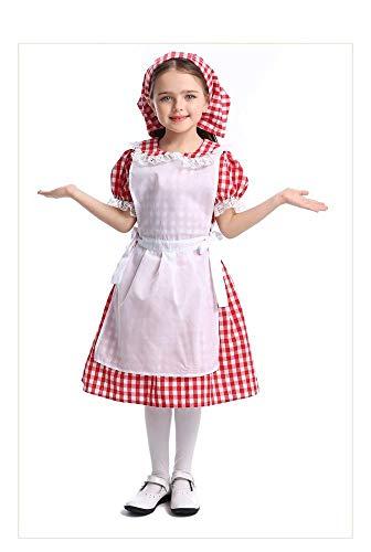 Uteruik - Disfraz de Oktoberfest para nia, disfraz de tirolesa para cosplay, vestido de cctel, fiesta de la cerveza alemana, 1 pieza (XS)