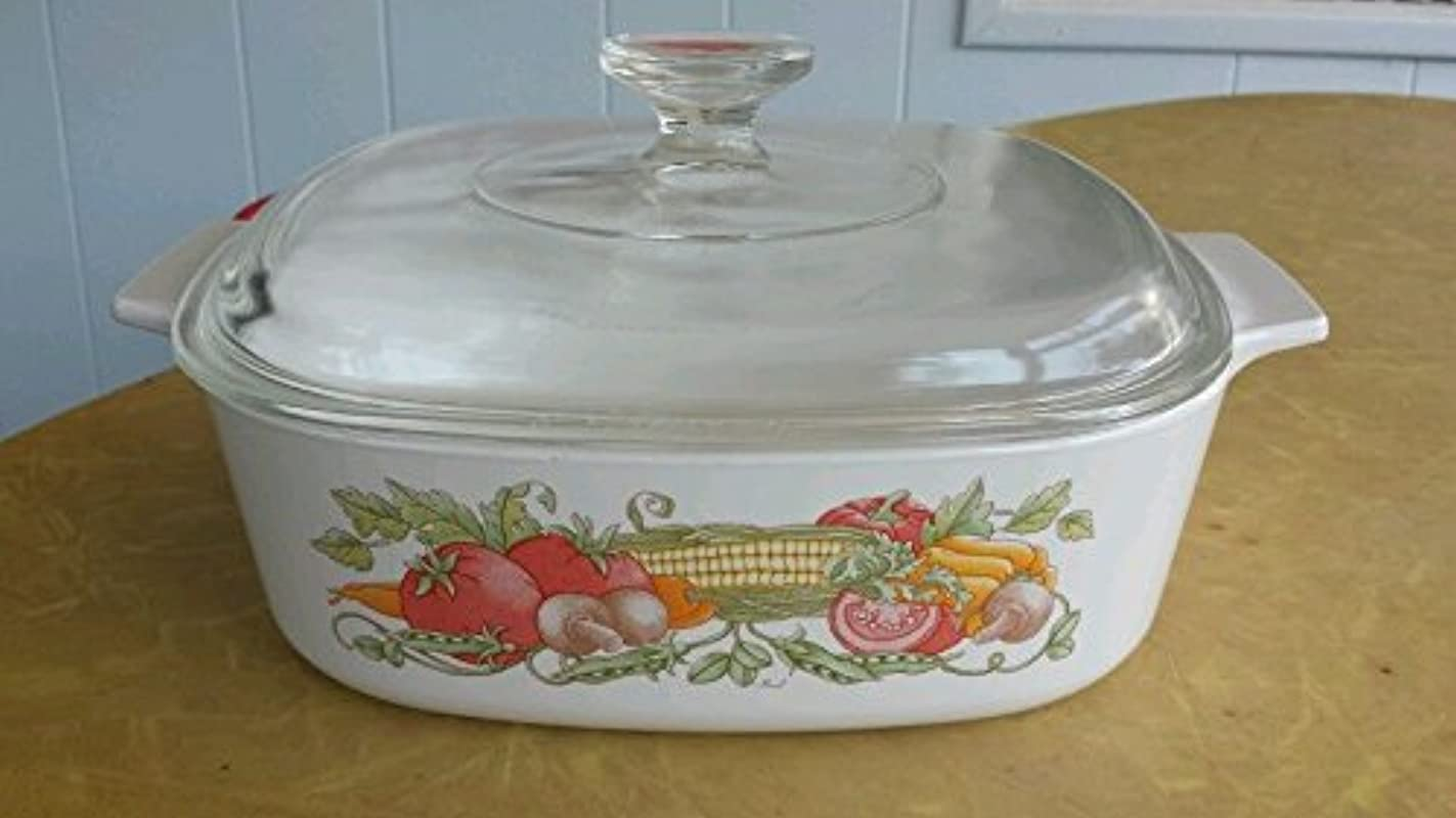 Corning Ware Garden Harvest 2 Qt Vegetable Casserole Baking Dish With Lid A 2 B