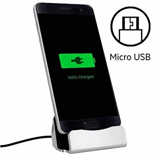 World Smartphone Docking Station Micro USB per Microsoft Lumia 430Argento