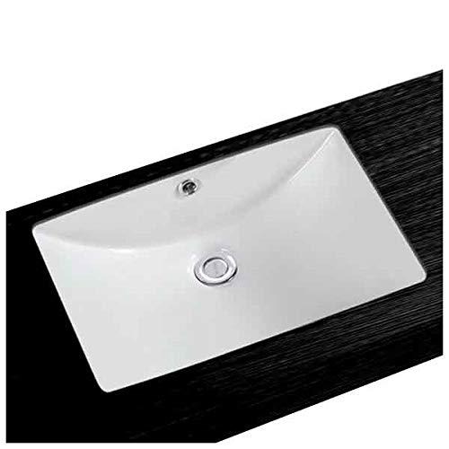 NEG Waschbecken Uno62U (eckig), Unterbau-Waschschale/Einbau-Waschtisch mit flachem Rand und Nano-Beschichtung