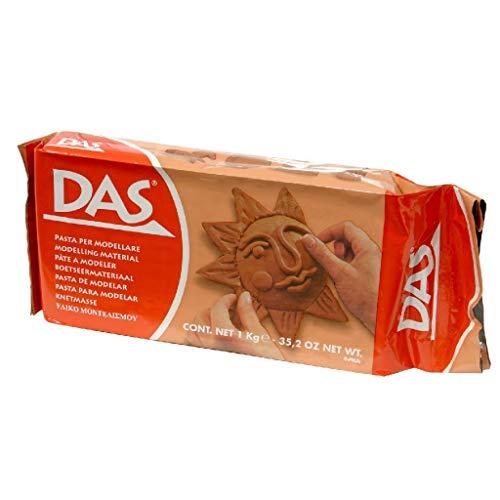 DAS 387600 - Pasta para modelar, 1 kg, color rojo terracota