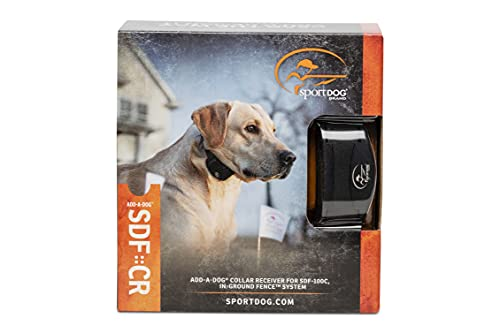 SportDOG Brand Rechargeable In-Ground Fence Add-A-Dog Collar - Waterproof with Tone/Vibration and...