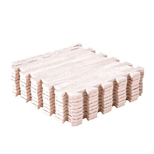 Amazon Brand - Umi 1' x 1'(30cm x 30cm) Tapetes De Espuma De Que Se Enclavamiento (Grano de Madera) (18 Piezas Ligero)