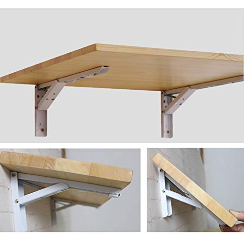 HLILY Folding Wall-mounted Table, Kitchen & Dining Table Desk, Solid Wood Drop-Leaf Table For Small Spaces,Learning Book Table Computer Desk,Convertible Multifunctional Desk