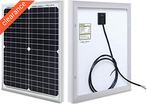 HQST 20W 12V Monocrystalline Compact Design Solar Panel High Efficiency Module Off Grid PV Power for...