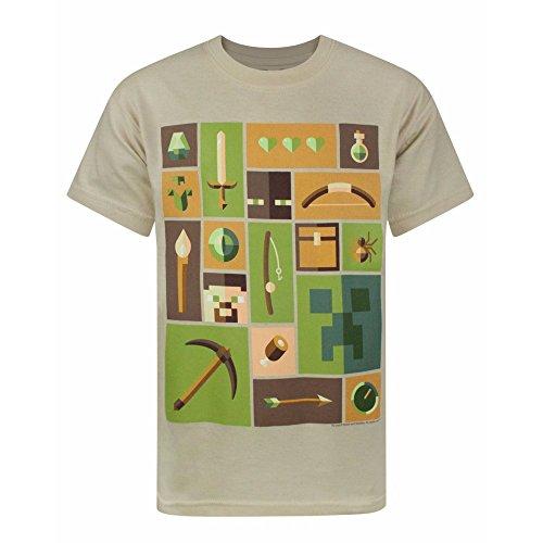 Minecraft - Camiseta de manga corta oficial de Minecraft modelo Explor
