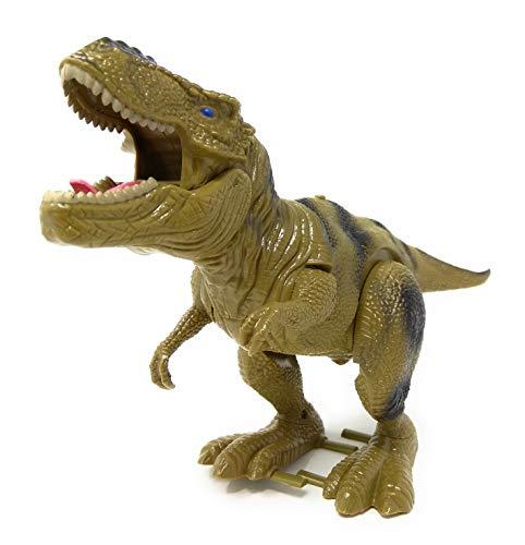 TOI Toys Dinosaurier elektrisch T-Rex Dino - Beweglich mit Ton, Sound und Geräuschen. Dunkelgrün Kinder Spielzeug. Laufender Tyrannosaurus Rex läuft, exkl. Batterien