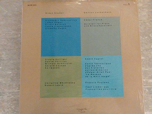 Edition Lockenhaus vol.1/2 - FRANCK Quintet for piano and streichquartette - CAPLET Conte fantastique - d'E. A. Poe - POULENC Zwei Lieder aus Fiancailles pour rire - JANACEK Streichquartette n. 1