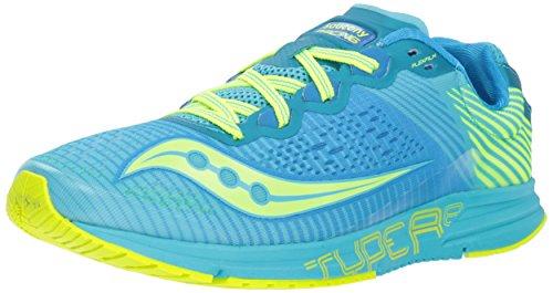 Saucony Women's Type A8 Sneaker, Blue/Citron, 7.5 M US