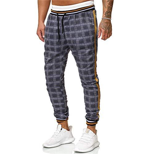 MINIKIMI joggingbroek heren vrijetijdsbroek chino jeans broek ruit broek heren fitness jogger trainingsbroek mannen vrije tijd sport broek