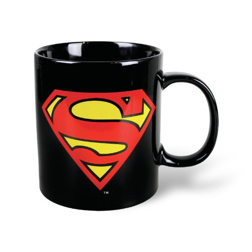 DC Comics - Retro Superman XXL Tasse Riesentasse ca 750ml - Superman Logo - verpackt in einer stabilen Geschenkbox