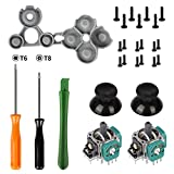 HIGOPLAY 3D Analog Joystick Thumb Stick Sensor Gamepad Thumbstick Replacement Part for Xbox One Controller with D Pads Rubber Conductive R L Button and T6 T8 Torx Screwdriver Repair Kit