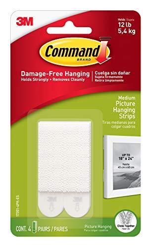 Command - Colgador para cuadros, pack de 4 (4x2)
