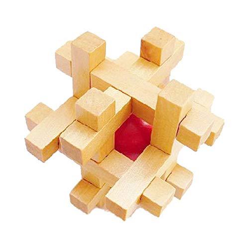 MINGZE Puzzle Madera 3D para niños, Juegos de Ingenio IQ Juguete Educativos, Juego Logica de para Niños y Adultos, Juguete para el hogar Oficina decoración ecológica Regalo (Cage The Ball)