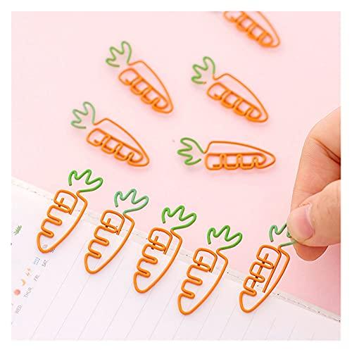 hongruida 5 unids/lote creativo kawaii zanahoria en forma de metal clip de papel marcador papelería escuela oficina suministros
