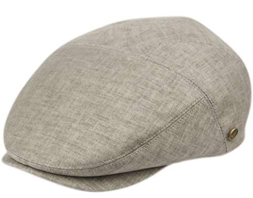 EPOCH Men's Cotton Flat Ivy Caps Summer Newsboy Hats (IV2921, L/XL)