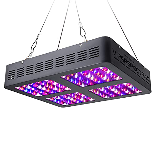 VIPARSPECTRA UL Certified 600W LED Grow Light,with Daisy Chain,Veg and Bloom Switches, Full Spectrum Plant Growing Lights for Indoor Plants Veg and Flower