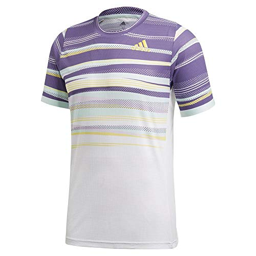 adidas Camiseta Freelift Heat.rdy para Hombre, Freelift tee Heat.rdy, Hombre, Color Blanco/Shock Amarillo, tamaño XX-Large