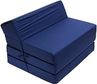 Best For Kids Barnstol säng funktionell stol ungdom barnmadrass för sömn och lek 3 i 1 (marinblå)