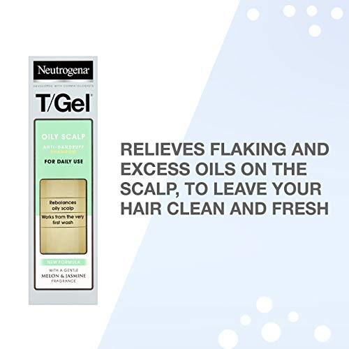 Neutrogena T/Gel Oily Scalp Anti-Dandruff Shampoo – Fights Dandruff After The First Use – Anti-Dandruff Shampoo – 250ml