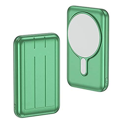 TWDYC Fuente de alimentación inalámbrica magnética de 15 W, 10000 mAh, cargador rápido de 20 W, batería externa, compatible con iPhone 12/12 Mini/pro/max (verde)
