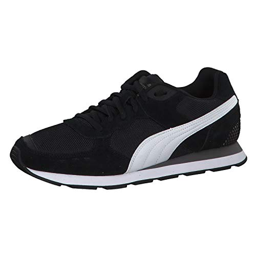 PUMA Damen Vista Sneaker, Black-White-Charcoal Gray, 44 EU
