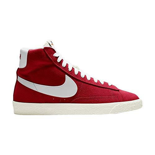 Nike Zapatos Niños Blazer Mid Suede (GS) Gym Rojo DA4672-600, (Rojo gimnasio/vela/naranja total/blanco.), 37 EU