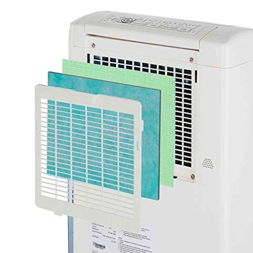EcoAir Hybrid Dehumidifier/Air Purifier, 20 L - White - Dehumidify and Air Purify, Castor Design