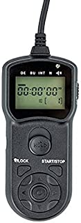 JJC TMC LCD Timer Remote Control for Canon EOS 60D 1000D 700D 650D 600D 550D 500D 450D Rebel Series (Black)