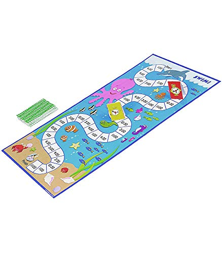 41fUge9DQbL - Carson Dellosa What Time Is It? Judy Clock Board Game Set—On The Farm, Time With Friends, Swim, Safari Time-Telling Board Games With Game Cards and Player Pieces, 2-4 Players, Ages 5+