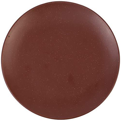 XUSHEN-HU cerámica Las vajillas vajilla vajilla cerámica creativos Platos Occidentales Filete Filete Plato de Pasta de Frutas Europea Ensalada de Placa Plana de la Placa de Hogares Vajilla Brown 21cm