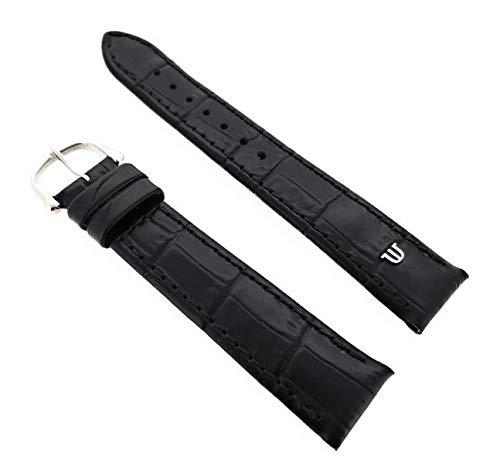 Maurice Lacroix Kroko Grain Original - Correa para reloj (20 mm, hebilla de acero inoxidable), color negro