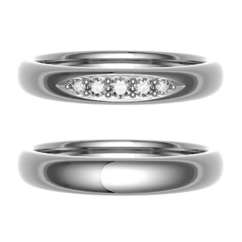 [ココカル]cococaru ペアリング 結婚指輪 シルバー 2本セット マリッジリング 日本製 (レディースサイズ4号 メンズサイズ2号)
