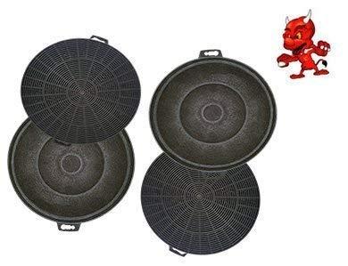 Mega Économies Set 4 Actif Filtre Filtre à Charbon pour Hotte Aspirante Bomann KF560, Kf 560