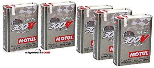 Motul Olio Motore Campionato 104242 300V Power 5W-40, Pacco 10 Litri (Contenitore Metallico)