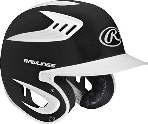 (Senior(7 1/4-7 3/4), Black) - Rawlings Senior 80MPH 2-Tone Helmet