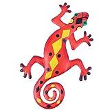 YARNOW Eidechse Wanddeko Metall Wohnzimmer Figur Deko Objekt Gecko Gartendeko Tiere Eisen Gartenfigur Wandskulptur Garten Dekofigur Tierfiguren Statue für Terrassen Dekoration