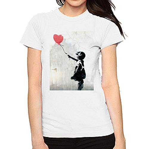 Camiseta Mujer Bansky Niña corazón (l)