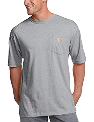 Carhartt Men's K87 Workwear Short Sleeve T-Shirt (Regular and Big & Tall Sizes), Heather Grey, Medium by Carhartt Sportswear - Mens